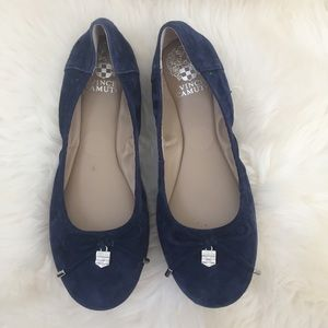 Vince Camuto Navy Ballet Flats